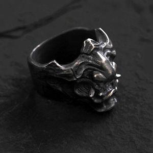 【送料無料】ブレスレット アクセサリ― シルバーサムライリングレトロハンドメイドメンズコレクション925 silver samurai armour hannya ring retro handmade mens gift collection