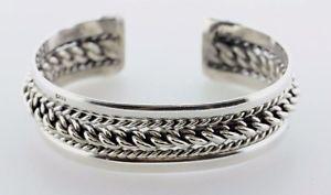 【送料無料】ブレスレット アクセサリ― ビンテージエジプトカフブレスレットvintage 900 silver 1950s keneh egypt braided cuff bracelet 725 adjustable
