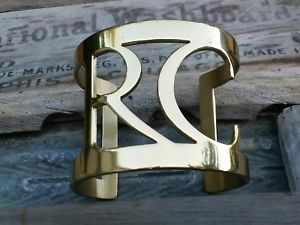 【送料無料】ブレスレット アクセサリ― カフゴールドビンテージブレスレットrustic cuff 2 gold vintage rc rare bracelet excellent condition