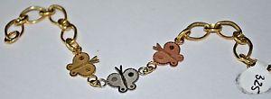 【送料無料】ブレスレット アクセサリ― バタフライブレスレットktricolor butterfly bracelet  585 14k gold jewelry  w67