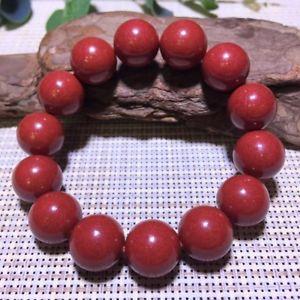 【送料無料】ブレスレット アクセサリ― ストレッチラウンドビーズブレスレットnatural red cinnabar crystal stretch round beads bracelet 16mm