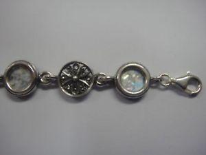 【送料無料】ブレスレット アクセサリ― スターリングシルバーローマガラスブレスレットelegant 925 sterling silver ancient roman glass bracelet 7