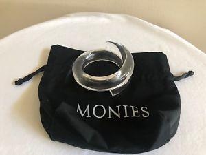 送料無料 ブレスレット アクセサリ― アクリルクリアブレスレットpreowned monies smooth rounded clear acrylic wraparound braceletmNwyP8vn0O