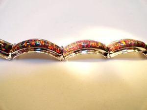 【送料無料】ブレスレット アクセサリ― オパールリンクブレスレットレディーススターリングシルバーtrue red glowing fire opal linked bracelet 8 large ladies sterling silver 925