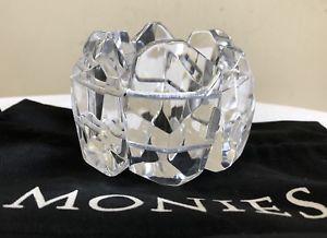 【送料無料】ブレスレット アクセサリ― moniesアクリルブレスレットpreowned monies clear acrylic stretch bracelet