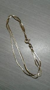 【送料無料】ブレスレット アクセサリ― イエローゴールドブレスレット18k yellow gold bracelet, 3 strands, 7 long, 36g weight great condition
