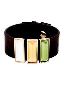 【送料無料】ブレスレット アクセサリ― ラリーク3ブレスレットbeautiful lalique three crystal leather bracelet