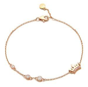 送料無料 ブレスレット アクセサリ― ローザティアラブレスレットkローズゴールドjestina バーゲンセール rosa sogno 誕生日/お祝い bracelet tiara jbr4b87sm960tr 14k rose gold