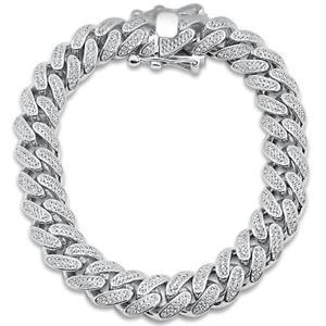 送料無料 ブレスレット アクセサリ― メンズヒップホップファッションマイクロリンクスターリングシルバーブレスレットmens hip 爆買いセール hop fashion micro テレビで話題 bracelet silver sterling link pave 925 curb