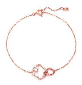 【送料無料】ブレスレット アクセサリ― ピンクlovcatジャーディン14kブレスレットbisbd855cy4p17キュービックzircornialovcat bijoux jardin 14k bracelet bisbd855cy4p17 pink gold cubic zirc