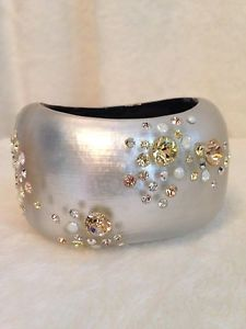 送料無料 ブレスレット 迅速な対応で商品をお届け致します アクセサリ― 春の新作 alexisbittarwhiteカフスブレスレット pinkalexis bittar white stones cuff pink bracelet silver crystal
