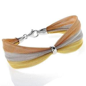 【送料無料】ブレスレット アクセサリ― ニューメッシュリボンブレスレット metal and mesh ribbon bracelet