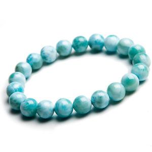 【送料無料】ブレスレット アクセサリ― 9mmlarimarパターンブレスレットaaaa9mm natural larimar blue gemstone water pattern lady beads bracelet aaaa
