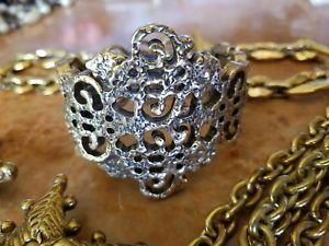 【送料無料】ブレスレット アクセサリ― デザイナーヒンジカフブレスレットsigned auth vtg oscar de la renta dramatic runway designer hinged cuff bracelet