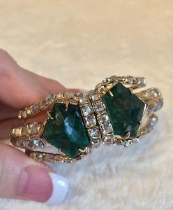 【送料無料】ブレスレット アクセサリ― アレクシスbittarダークグリーントルコcubistブレスレットalexis bittar dark green turquoise cubist crystal bracelet