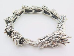 【送料無料】ブレスレット アクセサリ― ドラゴン83ポンドlistings925スターリングブレスレット13mmw listings925 sterling silver bracelet 13mmw perfect chain with dragon 83l