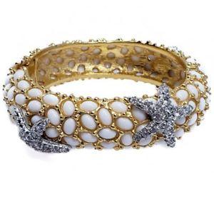【送料無料】ブレスレット アクセサリ― ケネスジェイレーンヒトデカボションブレスレットkenneth jay lane crystal starfish and pave white cabochon bracelet