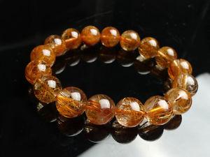 【送料無料】ブレスレット アクセサリ― 12mmブラジルルチルブレスレットaaa12mm natural brazil copper rutilated quartz crystal beads bracelet aaa