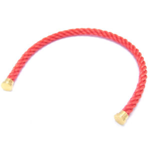 【送料無料】ブレスレット アクセサリ― フレッドメッキケーブルブレスレット#ピンクauth fred plating textile cable use for force 10 bracelet 17 pink dh46581