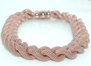【送料無料】ブレスレット アクセサリ― ローズゴールドスターリングシルバーリンクブレスレットrose gold plated sterling silver link bracelet with cz