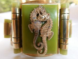 【送料無料】ブレスレット アクセサリ― 1935ジーンpainleveタツノオトシゴベークライトブレスレットbracelet with seahorses bakelite and copper by jean painleve circa 1935