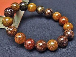 【送料無料】ブレスレット アクセサリ― ブロンズゴールデンルチルラウンドブレスレット12mm rare 6a natural bronze golden rutilated quartz round bracelet gift bl5415