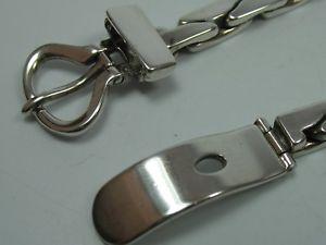 ブレスレット アクセサリ— o p orlandini unoerreitalyヴィンテージデザイナーベルト925o p orlandini uno an erre italy vintage designer belt silver bracelet 925