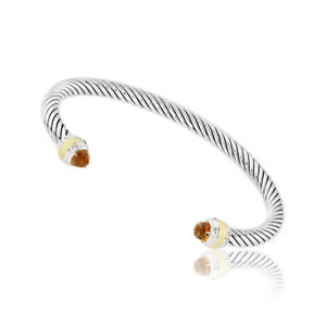 【送料無料】ブレスレット アクセサリ― デビッドケーブルクラシックシトリンゴールドブレスレットdavid yurman cable classic citrine amp; gold bracelet b12381s4aci