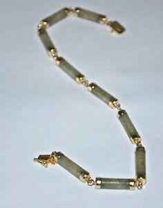 【送料無料】ブレスレット アクセサリ― イエローゴールドヒスイブレスレットkゴールドジュエリーyellow gold bracelet with jade   58514k gold jewelry a1507