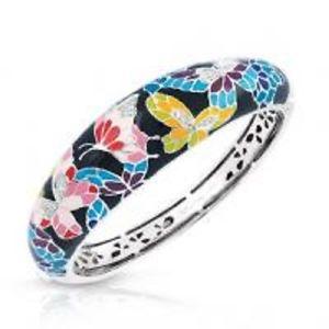 【送料無料】ブレスレット アクセサリ― ベルエトワールバタフライマルチカラーエナメルブレスレットbelle etoile authentic 925 butterfly kisses multi color enamel bracelet 7 nwot
