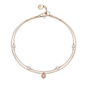 ブレスレット アクセサリ— jestinajjjbbq8af325r47s0j14k2ラインブレスレットarafeeljestina jjjbbq8af325r47s0 j basic 14k rose gold two line bracelet good arafee