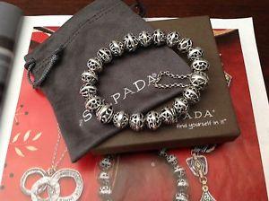 【送料無料】ブレスレット アクセサリ― スターリングシルバーブレスレットボックスsilpadahemisphere sterling silver braceletb2905 brand in box