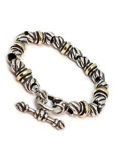 【送料無料】ブレスレット アクセサリ― ラゴススターリングゴールドアクセントリンクブレスレットlagos large and heavy sterling and gold accent link bracelet