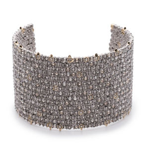 【送料無料】ブレスレット アクセサリ― クリスタルレースカフブレスレットalexis bittar crystal encrusted lace cuff bracelet