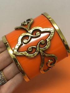 【送料無料】ブレスレット アクセサリ― emilioプッチオレンジカフスブレスレットnwtemilio pucci orange cuff bracelet nwt