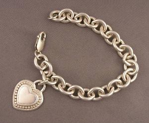 【送料無料】ブレスレット アクセサリ― ジュディススターリングリンクブレスレットjudith ripka sterling heart charm link bracelet signed