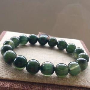 【送料無料】ブレスレット アクセサリ― ルチルラウンドビーズブレスレットnatural green rutilated quartz crystal round beads bracelet 105mm aaaaa