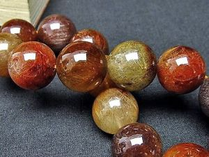 【送料無料】ブレスレット アクセサリ― ブロンズゴールデンルチルクォーツビーズブレスレット165mm rare 5a natural bronze golden rutilated quartz beads bracelet gift bl542