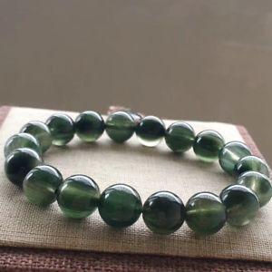 ブレスレット アクセサリ— ルチルブレスレット11mm aaaaanatural green rutilated quartz crystal round beads bracelet 11mm aaaaa
