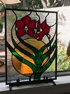 【送料無料】ブレスレット アクセサリ― ランサンステンドガラスパネルorchid sun stained glass panel handmade