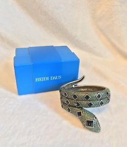 【送料無料】ブレスレット アクセサリ― ハイジdausグリーンsnakeブレスレットml heidi daus green and blue crystal snake bracelet, ml