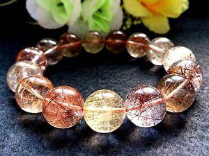 【送料無料】ブレスレット アクセサリ― ゴールデンルチルラウンドブレスレット15mm rare 5a natural titin golden rutilated quartz round bracelet gift bl5889
