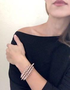 【送料無料】ブレスレット アクセサリ― アトリエスワロフスキーコアコレクションローズゴールドプレートスパイクカフブレスレットatelier swarovski core collection kalix rose gold plate spike cuff bracelet nwt