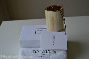 【送料無料】ブレスレット アクセサリ― ローズゴールドカフ1280 balmain rose gold and bone bracelet cuff  authentic boxed