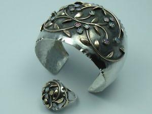 【送料無料】ブレスレット アクセサリ― リングゴールドシルバーオパールブレスレットrohrbacher hand made opal bracelet with ring 333 gold and 800 silver