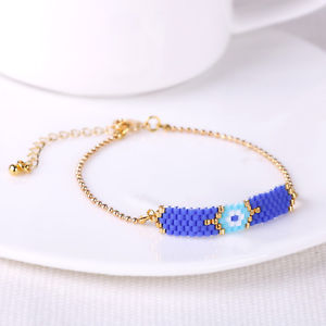 【送料無料】ブレスレット アクセサリ― シードビーズブレスレットチェーンゴールドカフファッション seed beaded friendship bracelet strand chain gold cuff fashion women jewelry