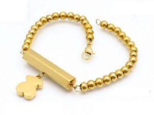 【送料無料】ブレスレット アクセサリ― ファッションドレスステンレスソリッドパールチェーンベアブレスレット fashion womens dress stainless steel solid pearl chain bear bracelets