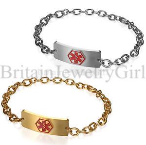 【送料無料】ブレスレット アクセサリ― ステンレススチールアラートチェーンブレスレットfree engraving stainless steel medical alert id chain bracelet for men women