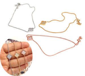 【送料無料】ブレスレット アクセサリ― ローズテニスリンクチェーンsharpedsilver rose gold gold tone flower sharped adjustable tennis link chain bracelet