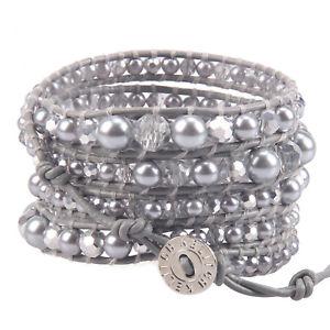 【送料無料】ブレスレット アクセサリ― パール5ブレスレットチェーンhigh quality pearl crystal beaded charm 5 wrap bracelet handmade chain jewelry